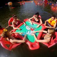 Новый надувной игрушки для детей и взрослых бассейн воды надувные крепления Плавающие кровать плавающей ведро воды игрушки DCQ6898