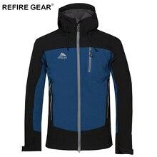 ReFire Gear Winter Soft Shell Windproof Windbreaker Jacket Waterproof Thermal Hiking Hooded Jackets Male Outdoor Camping Jackets недорого