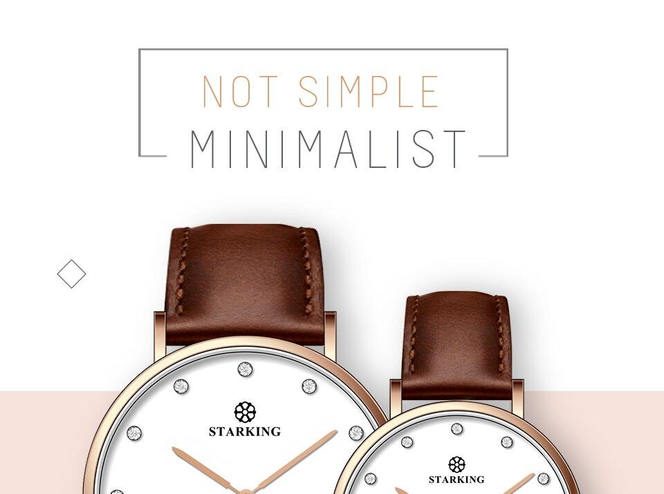 STARKING 6MM Casual Luxury New Relogio Relógios