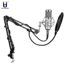 Ituf BM-800 Professional Studio Condenser Mic & FM-35 Adjustable Recording Suspension Arm Stand with Shock Mount KIT BM 800