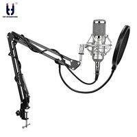 Ituf BM 800 Professional Studio Condenser Mic & FM 35 Adjustable Recording Mic Suspension Arm Stand with Shock Mount KIT BM 800