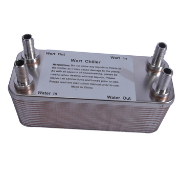 Homebrew Plate Heat Exchanger Stainless Steel Plate Wort Chiller-30 Plates Brewing Cooler Four 1/2 threads heat exchanger cooler