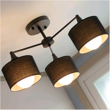 Creative modern Bedroom Fabric Ceiling Lamp Living Room Simple Dining Room Bar Counter Balcony Country Rustic Ceiling Light
