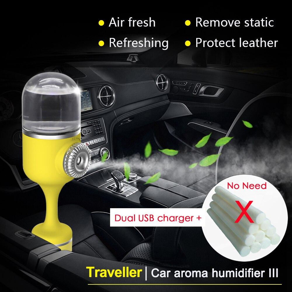 Nanum 2018 Car Aroma Humidifier Cool mist Diffuser Ultrasonic Aromatherapy 70ML Car Air ...