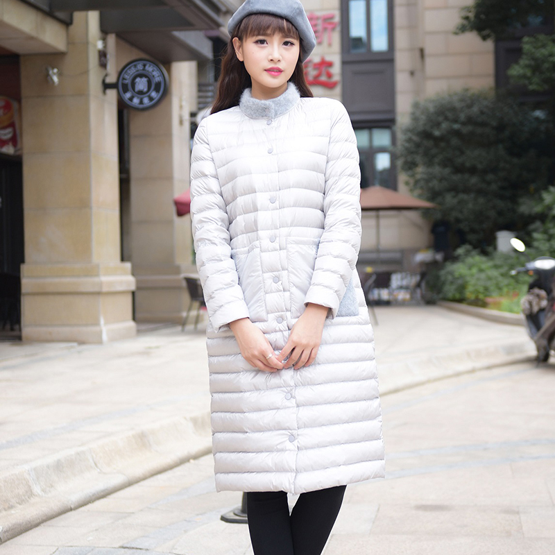 winter duck down jacket women long coat parkas thickening Female Warm Clothes High Quality mink cashmere for collar ultra light