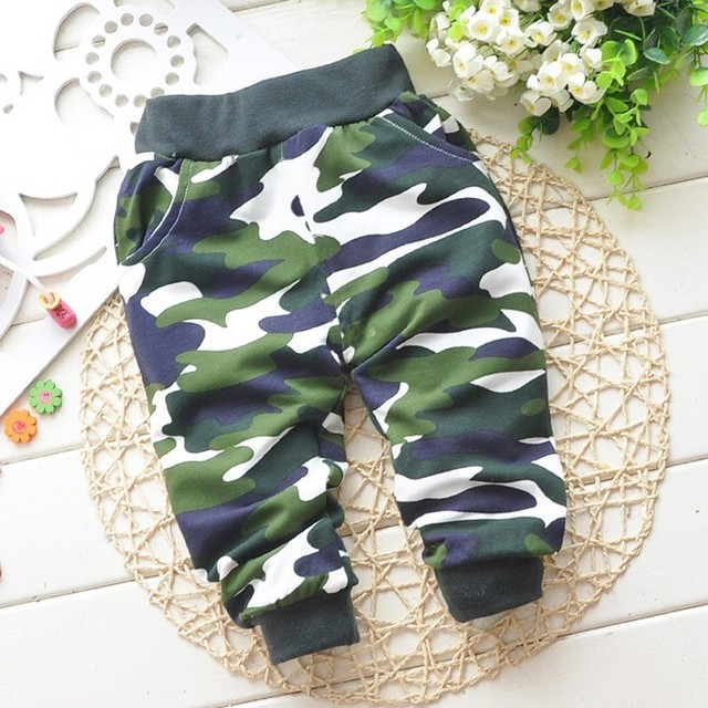 Cotton 0-2 Year Baby Pants Spring&Autumn Lovely Children Camouflage Pants Newborn Baby Boy Pants Baby Girls Pants Baby Clothing