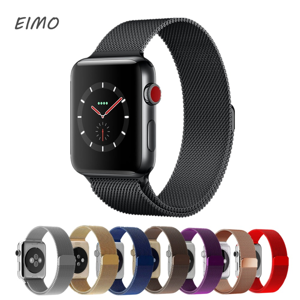 Milanese Loop bands For Apple Watch band strap 42mm/38mm Iwatch series 3/2/1 Stainless Steel Link Bracelet wrist watchband belt 16 18 20 22 mm silver black gold rose gold ultra thin mesh milanese loop stainless steel bracelet wrist watch band strap belt