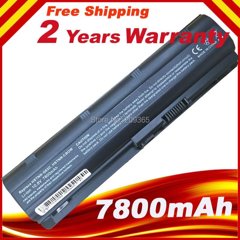 7800 mah 9 Cellules Batterie D'ordinateur Portable Pour HP MU06 MU09 DE RECHANGE 593554-001 593553-001 CQ42 CQ62 G42 g62 G72 G4