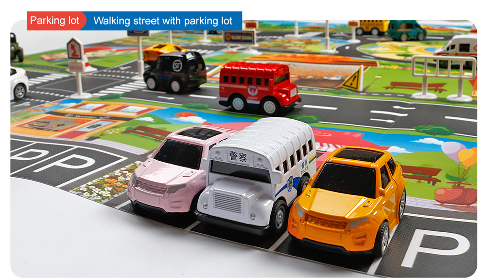 HTB1O5WUaA5E3KVjSZFCq6zuzXXaM 130*100cm Children's Traffic Car Play Pad Parking scene big map kids play maps Parent child toys boy girl kids toy game mat map