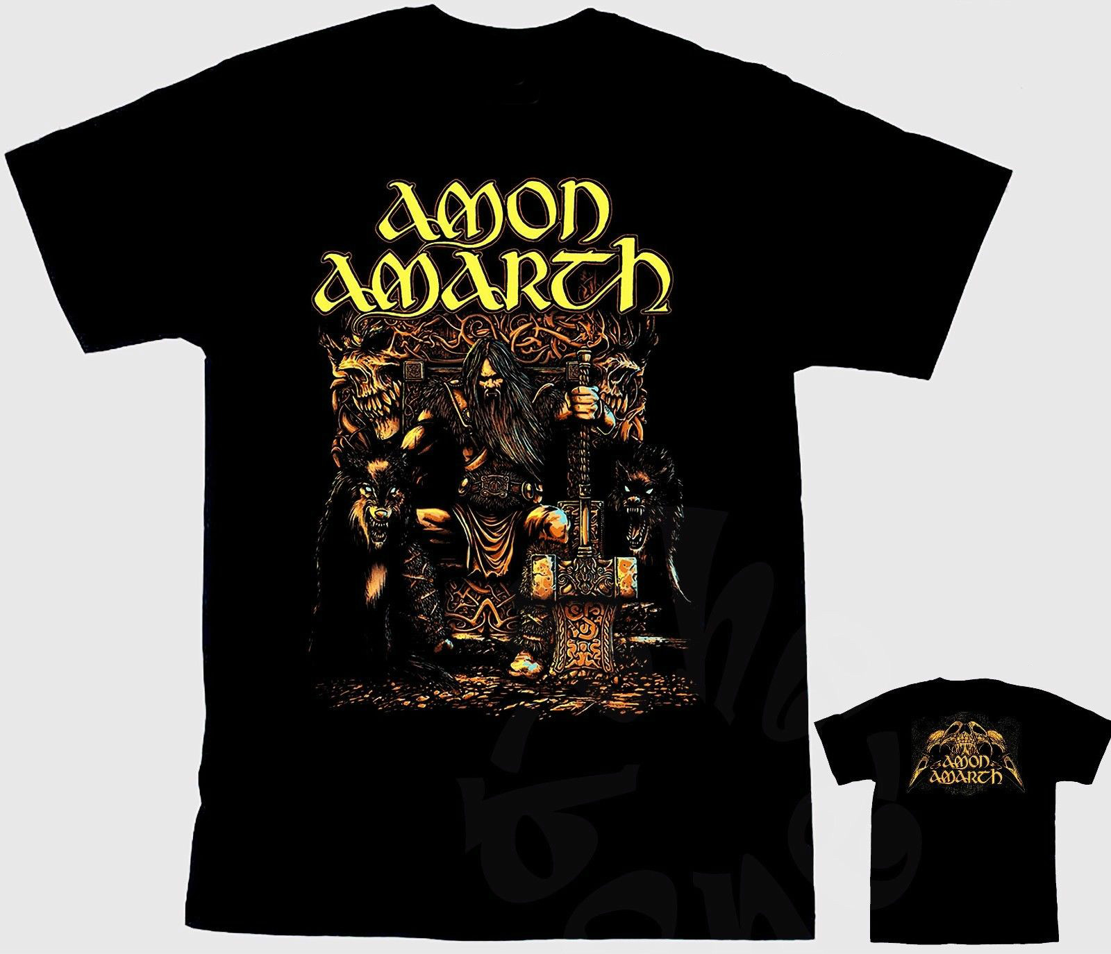 AMON AMARTH-Melodic viking death metal band,T-shirt-SIZES: S to 7XL Fashion Unique Classic Cotton Men top tee Men O-Neck