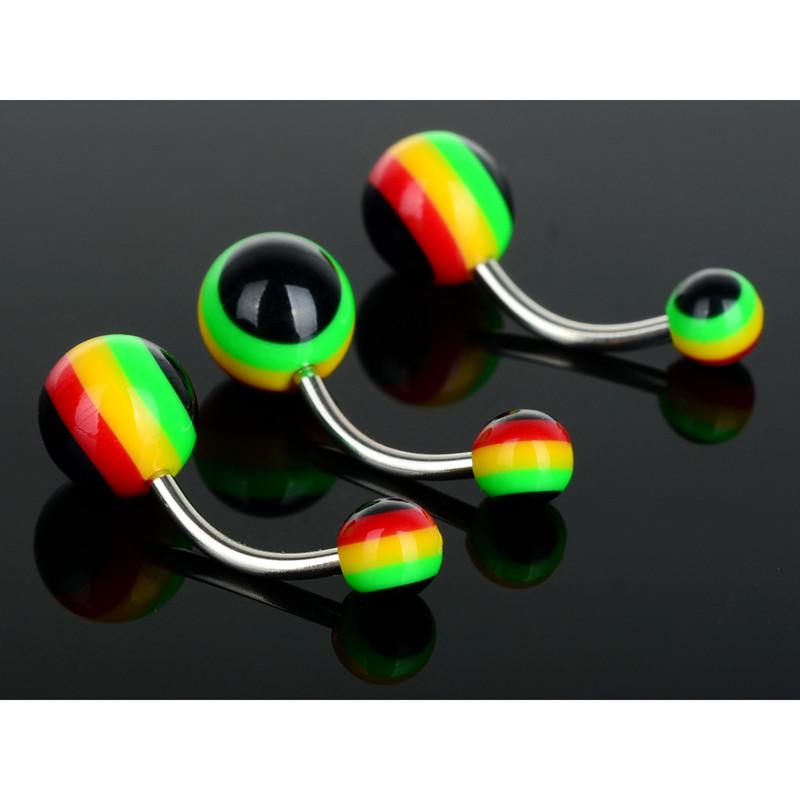 HTB1O5WdNpXXXXbQXpXXq6xXFXXXA Fashionable 5-Pieces Sexy Surgical Steel Barbell Navel Ring Set - 4 Colors
