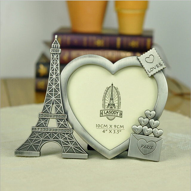 Fashion Vintage Paris Tower metal Photo Frame DIY Picture LOVE ...