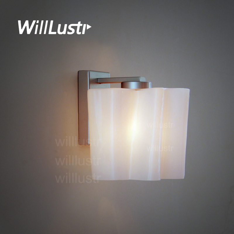 Logico wall sconce Lounge living doorway foyer vanity light modern lamp twist frosted milk glass shade white cloud lighting white glass ceiling lamp modern design frosted glass shade light home collection lighting bedroom foyer doorway cloud lights