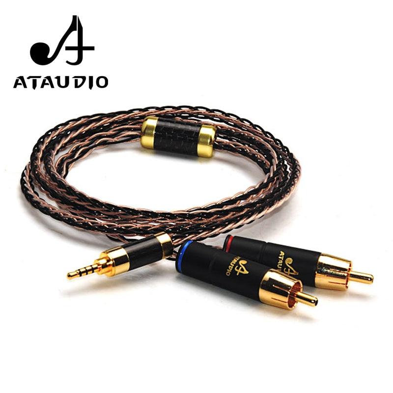 ATAUDIO Hifi 2.5mm TRRS Équilibré à 2 RCA Câble Mâle Pour Astell & Kern AK100II, AK120II, AK240, AK380, AK320, DP-X1