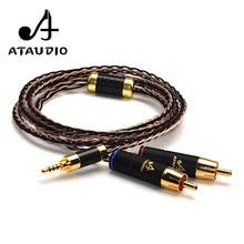Ataudio Hifi 2,5 мм TRRS сбалансированный мужчин 2 RCA кабель для Astell & Kern AK100II, AK120II, AK240, AK380, AK320, DP-X1