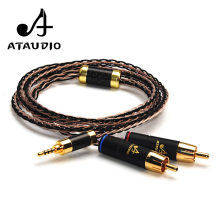 ATAUDIO Hifi 2.5mm TRRS Balanced to 2 RCA Male Cable For Astell&Kern AK100II,AK120II,AK240, AK380,AK320,DP-X1(China)