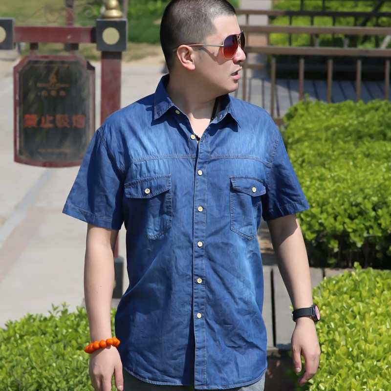 43a1f07a4 ヾ(^▽^)ノزائد كبيرة كبيرة الحجم الصيف قميص الرجال 6XL حجم فضفاض ...