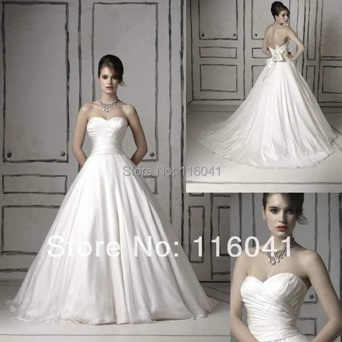 Popular silk wedding dresses buy cheap silk wedding for Satin silk wedding dresses