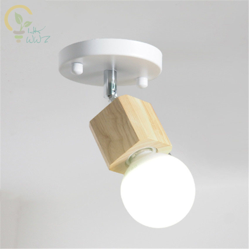 Nordic Simple Wood Ceiling Lamp Balcony Aisle Bar Led Ceiling Lights Stairs Bedside Lamp Night Light For Home Lighting Fixtures