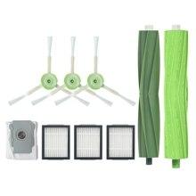 -Vacuum Cleaner 1 Set Bristle Brush+3 Side Filters+1 Vacuum Dust Bags For Irobot Roomba I7 I7+/I7 Plus E5 E6