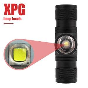 Image 2 - BORUiT D20 XPG LED كشافات قوية 4 وضع التكبير 1000LM العلوي قابلة للشحن 18650 مقاوم للماء رئيس الشعلة للتخييم الصيد