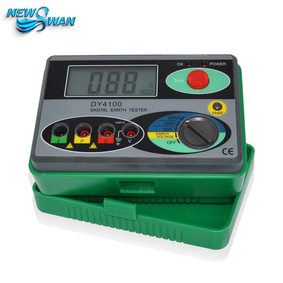 DY4100 testeur de résistance au sol testeur de terre numérique réel 0-2000omh