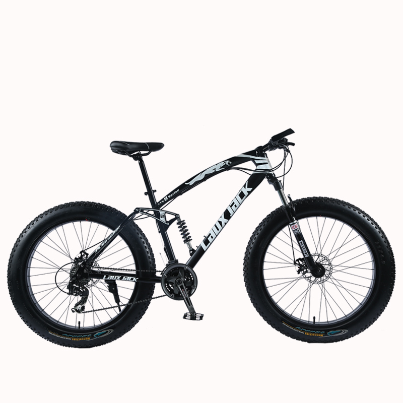 "HTB1O5X lv6TBKNjSZJiq6zKVFXay LAUXJACK Mountain Fat Bike 26"" Wheels SHIMANO 24 Speed Full Suspended Frame"