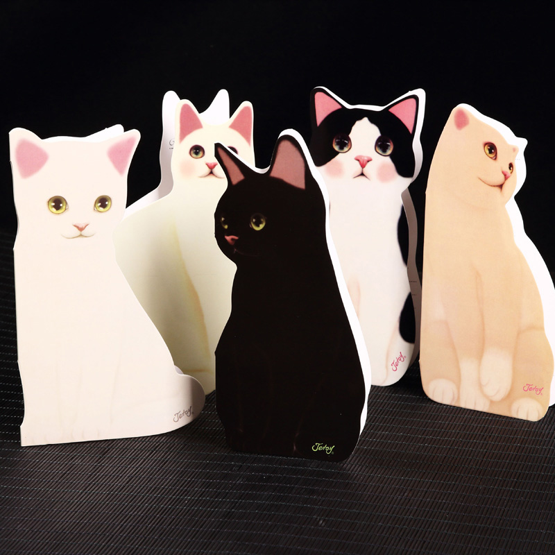 5pc Pack DIY Cute 3D Cat Birthday Paper Greeting Cards