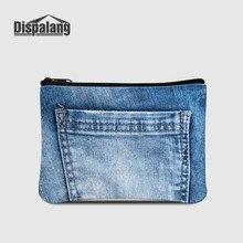 Dispalang, женские кошельки, джинсовые, с принтом, женские, маленькие, на открытом воздухе, кошелек, для девочек, клатч на молнии, для детей, мини, для денег, сумка для ключей