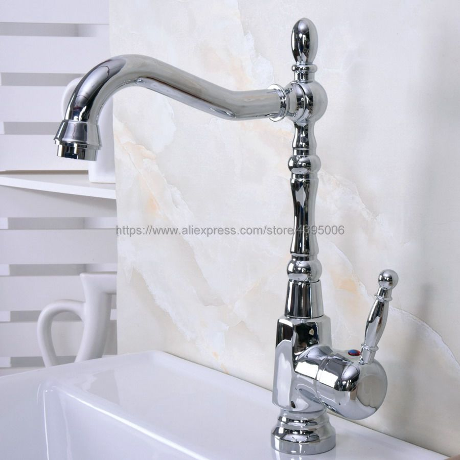 Polished Chrome Basin Faucet Modern Bathroom Lavatory Vessel Sink Faucet Single Handle Bnf925 in Basin Faucets from Home Improvement