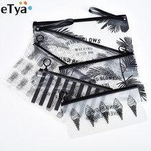 ETya модная женская прозрачная косметичка для путешествий, маленькая большая косметичка из ПВХ, сумка для макияжа, чехол для ванной, органайзер, Набор сумок