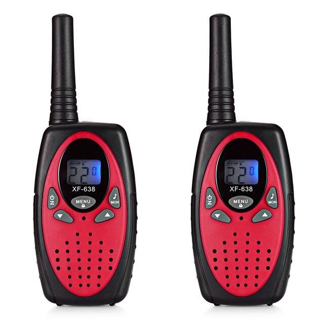 2pcs XF-638 22 Channel Travel Handheld Walkie Talkie Kids Portable 2 Way Transceiver