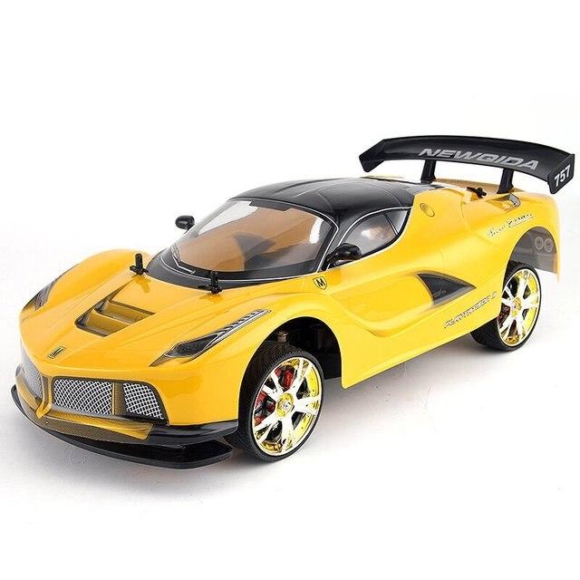 Large 1:10 RC Coche de Carreras de Alta Velocidad Del Coche 2.4G GTR 4 Tracción Deporte Deriva de Radio Control Modelo De Coche de Carreras de juguete electrónico