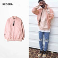 Pink Jacket Men Hip Hop Loose Kanye West Bomber Jacket Pink baseball clothing Fashion men women Couples Jacket and Coat  M-3XL