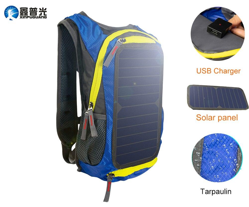 6w 6v USB Zonnepaneel Blauwe Rugzak Charger Oversize Grote energie solar mannen vrouwen Tas Unisex reizen Thuis Outdoor Camping-in Zonnecellen van Consumentenelektronica op