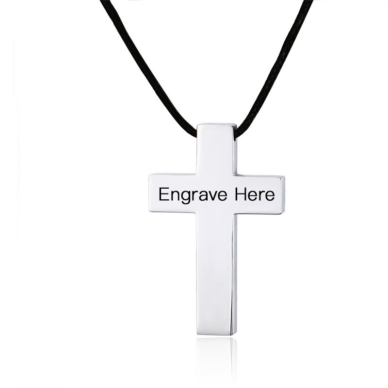 Personalized free engraving diy name cross pendants stainless steel personalized free engraving diy name cross pendants stainless steel custom necklaces pendants sporty accessorise men jewelry in chain necklaces from aloadofball Gallery