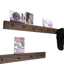 Walnut  Brass  wall hook Solid wood coat rack Hang clothes hook Bedroom  sitting room  Study  wall hanging