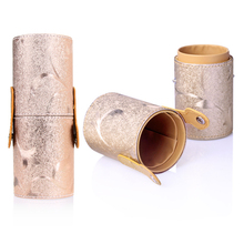Rose Gold Travel Empty makeup brush holder Storage PU Leather Travel Cosmetic Brushes Pen Holder Organizer  Make Up Tools