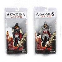 2 יחידות משלוח חינם NECA ASSASSINS CREED II אציו 7 אינץ שחור/לבן PVC פעולה דמויות דגם אוסף צעצוע