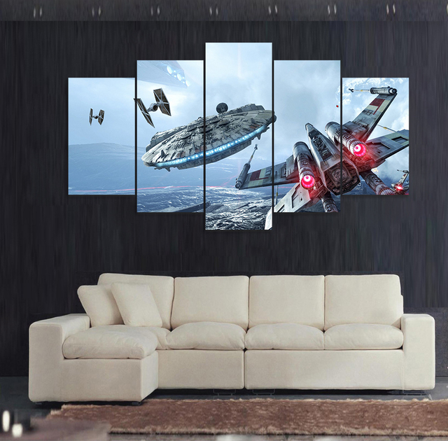 Star Wars Wall Painting (5pcs) – Starfighter Assault