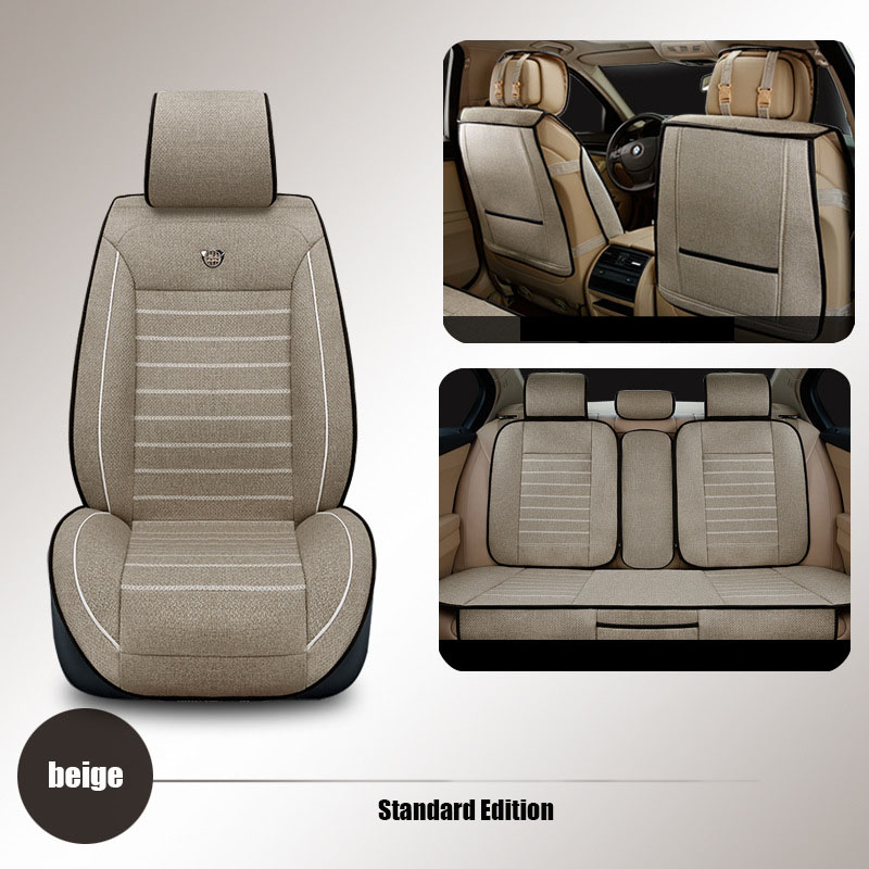 High quality linen Universal car seat covers For Volkswagen vw passat b5 polo golf tiguan jetta touran car styling seat cushion kokololee flax car seat covers for volkswagen vw passat polo golf tiguan jetta touareg auto accessorie car styling