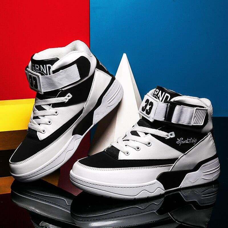 Men's shoes tide shoes men's high to help skateboarding shoes High Bang Bang hip hop street dance shoes new help in basketball shoes hip hop sports running shoes