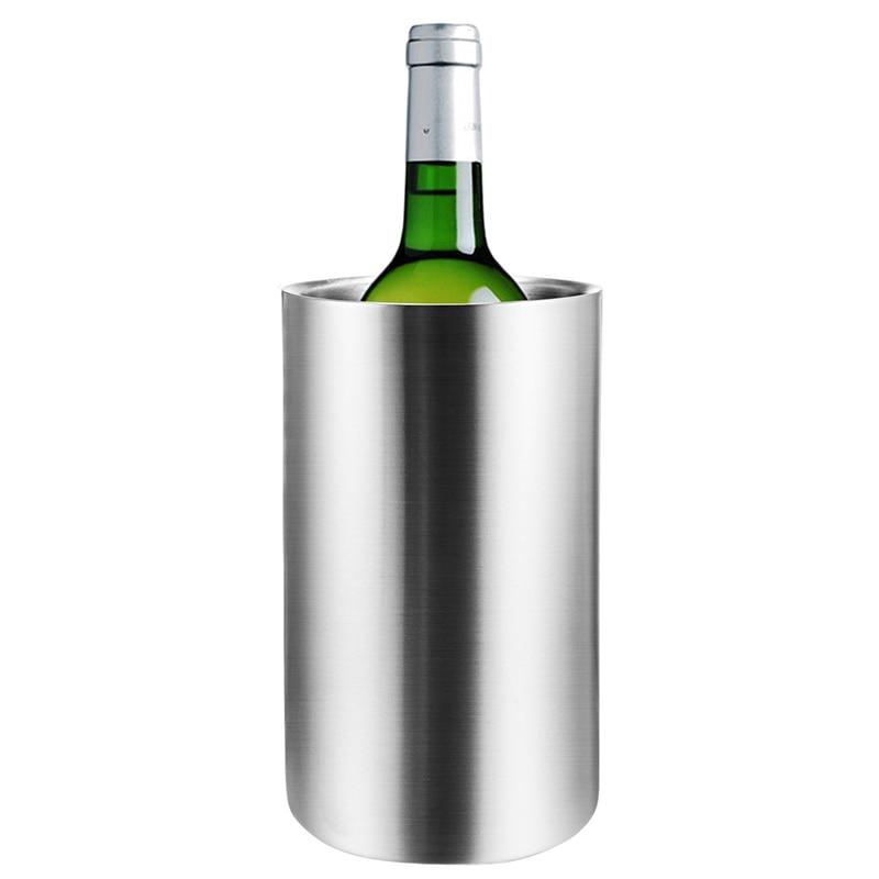 UPORS ведро для охлаждения вина из нержавеющей стали с двойными стенками держатель охладителя вина охладитель пива охладитель шампанского ве...