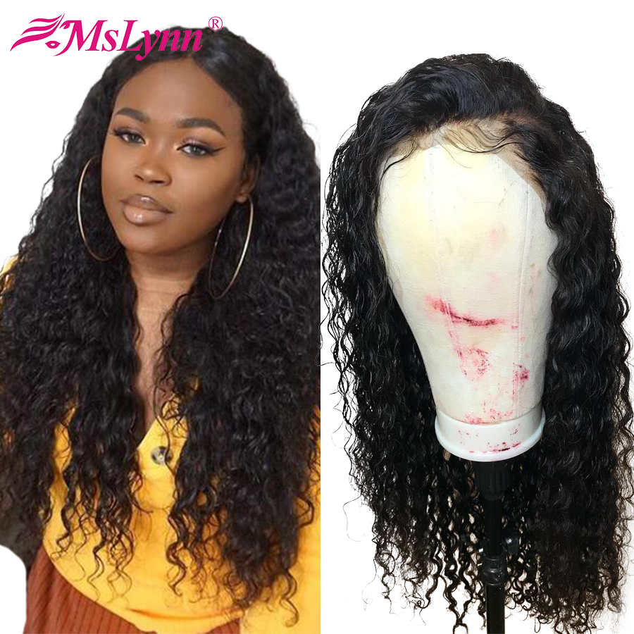 Water Wave Wig 13x6 Lace Front Human Hair Wig Pre Plucked Natural Hairline With Baby Hair Mslynn Remy Lace Front Wig For Women