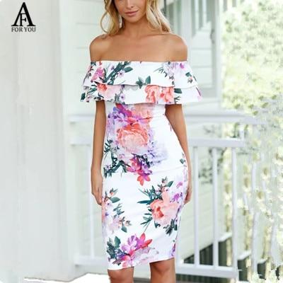 Vestido con flores corto