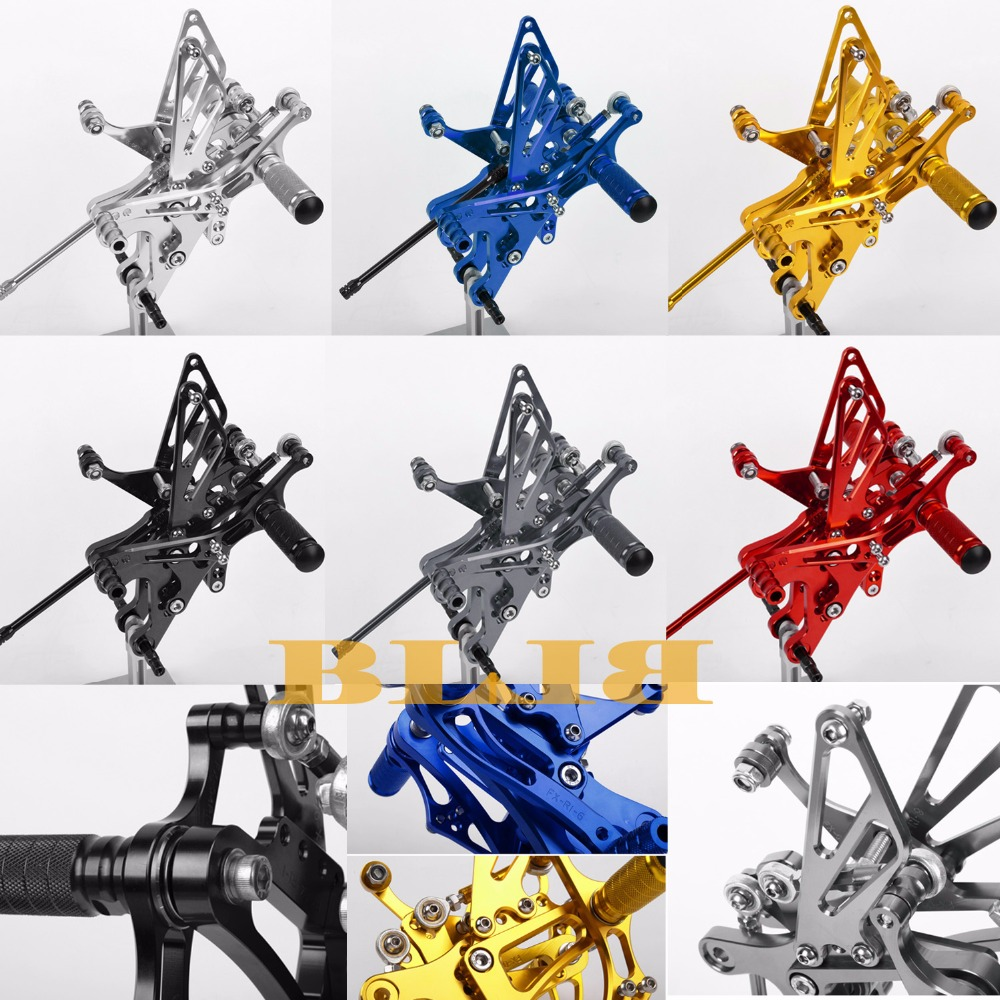 8 Colors CNC Rearsets For Yamaha YZF R1 2004-2006 Rear Set Motorcycle Adjustable Foot Stakes Pegs Pedal 2005 High-quality Rests free shipping motorcycle parts silver cnc rearsets foot pegs rear set for yamaha yzf r6 2006 2010 2007 2008 motorcycle foot pegs