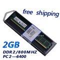 Longdimm Оперативной Памяти DDR2 2 Г DDR2 2 Г 800 МГц PC2-6400 Для настольного компьютера, memoria барана для всех материнских плат Бесплатная Доставка