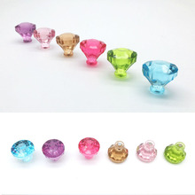 3pcs/set Mini Crystal Diamond Shapes fridge magnets whiteboard sticker Refrigerator Magnets Kids gift Home Decoration