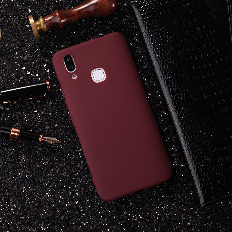 Ultra Thin Matte TPU Case For VIVO V9 Y85 Luxury Business Candy Soft TPU Phone Back Cover Coques Y85 V 9 Protective Fundas Capas (1)