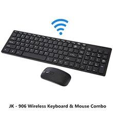 Nueva JK-906 2.4G Wireless Optical Teclado y Ratón Combo con Receptor USB Negro/Blanco Color de Diseño de Moda para PC Laptop